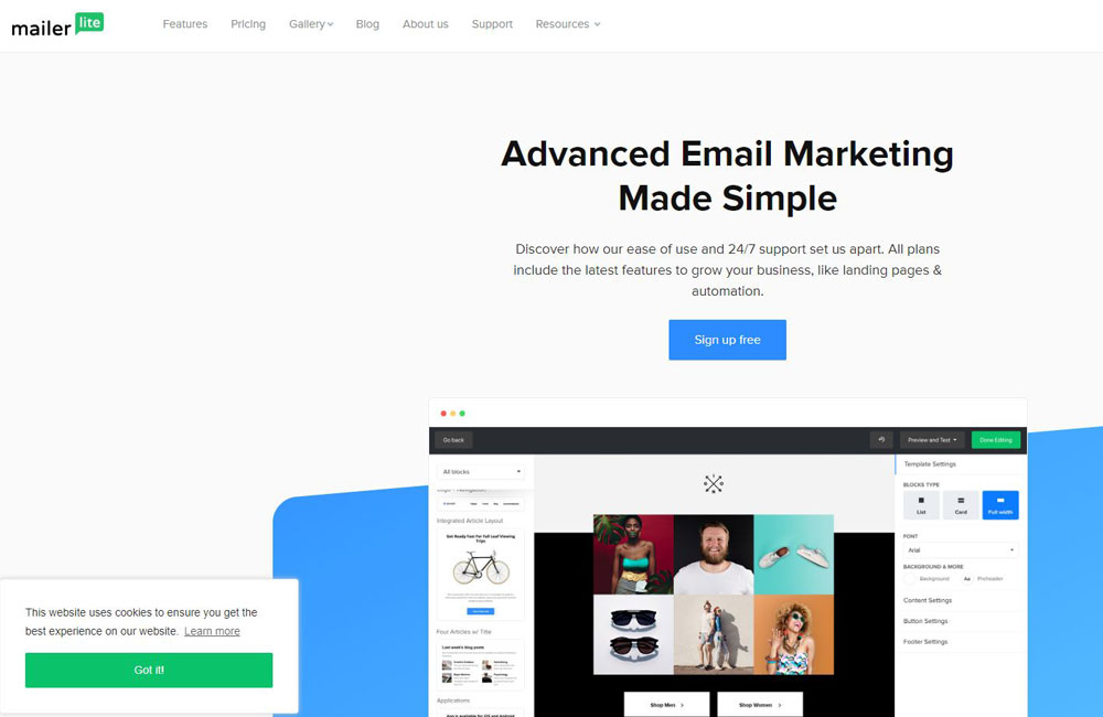 mailerlite email marketing tool