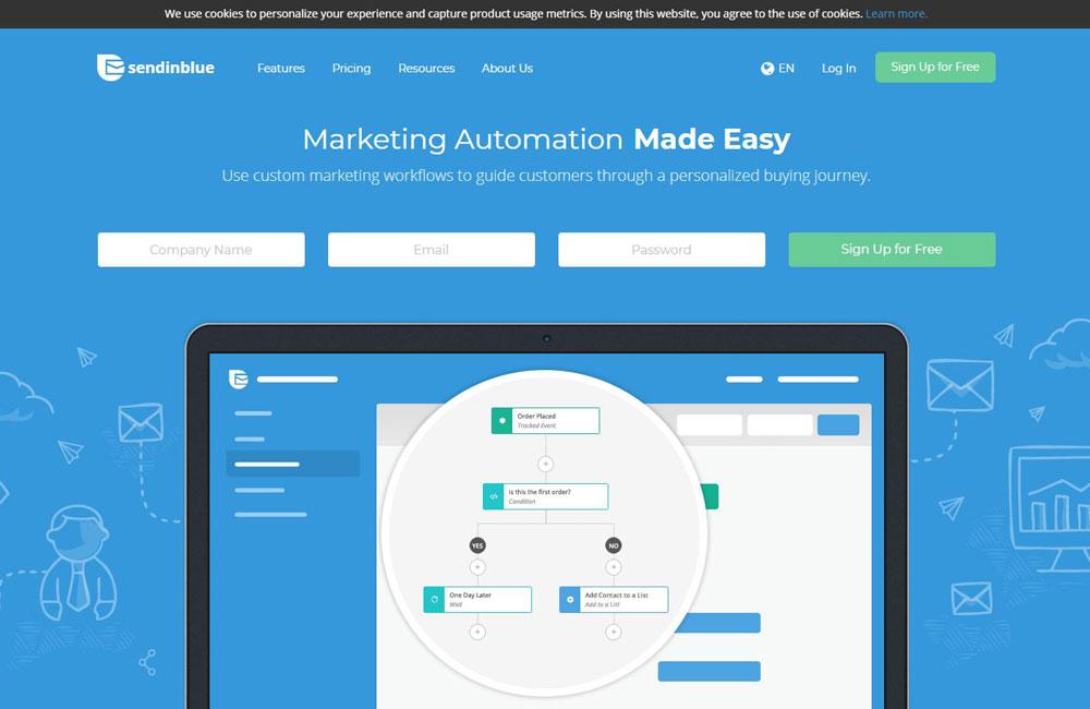 sendinblue email marketing software